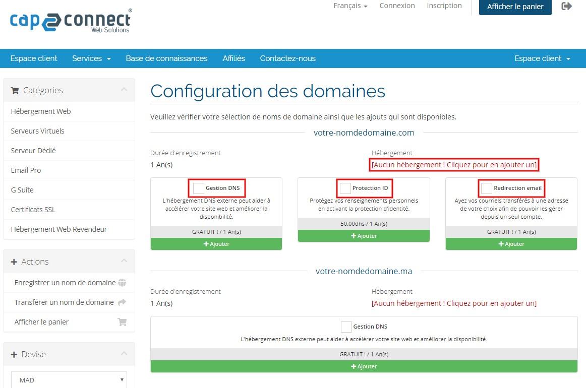 Nom de domaine DNS Maroc