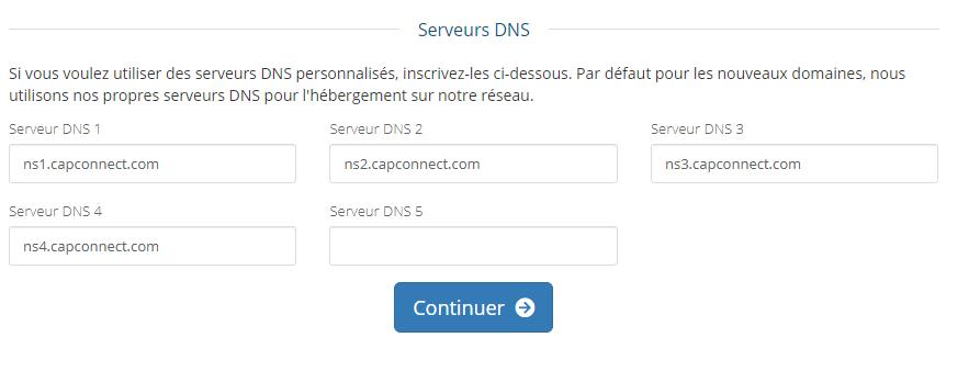 DNS Noms de serveurs