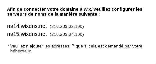 DNS wix