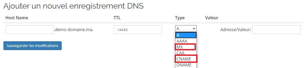 Configuration DNS