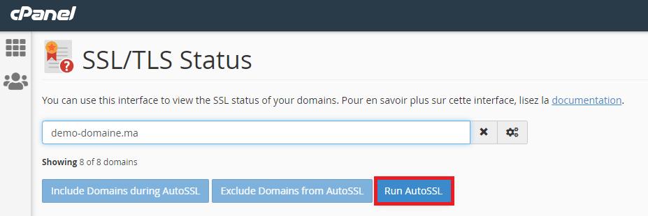 Activer certificat SSL gratuit