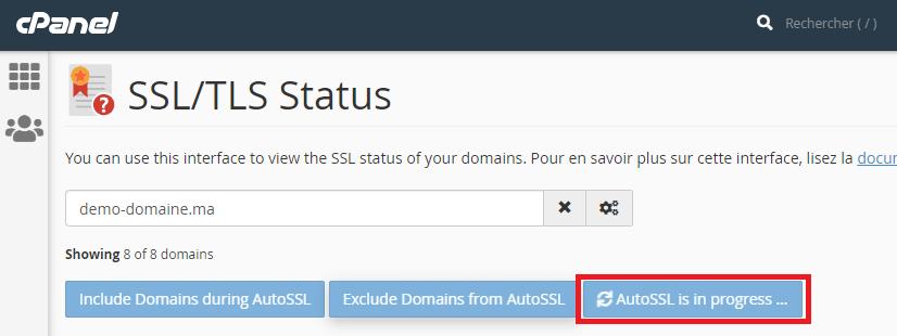 Certificat SSL gratuit sur cPanel