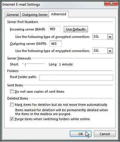Configurer compte email