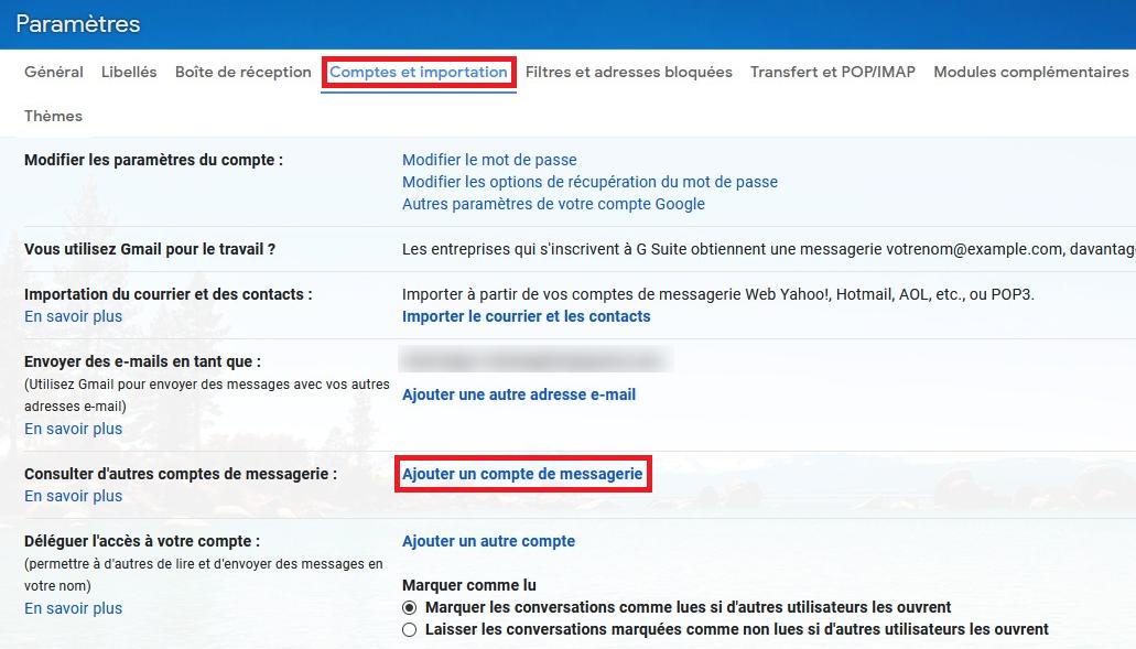 Ajouter un compte email sur Gmail