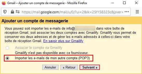 Configuration email sur Gmail