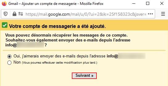 Envoyer des emails sur Gmail