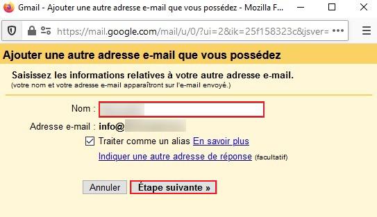 Autre adresse email sur Gmail