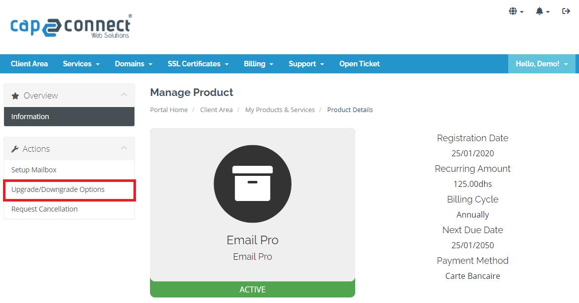 Modifier les options de vos emails PRO