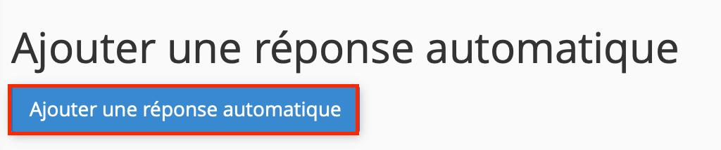 Configurer un répondeur automatique